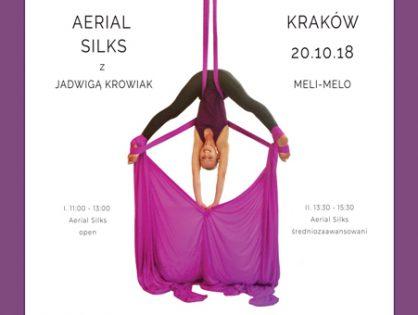 Aerial Silks, czyli taniec na szarfach z Wicemistrzynią Europy Jadzia Krowiak