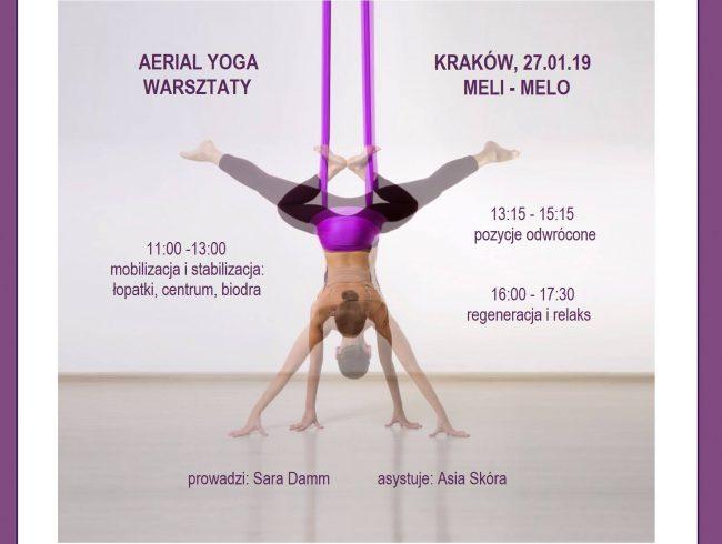 Warsztaty Aerial Yogi – mobilizacja/stabilizacja/ inwersje/regeneracja