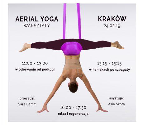Warsztaty Aerial Yogi - pozycje latające/szpagaty/relax