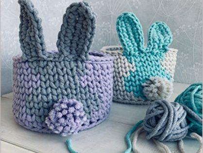 Warsztaty szydełkowania - koszyczki króliczki
