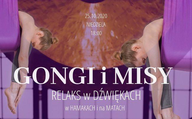 Koncert gongów i mis tybetańskich – relaks w hamakach i na matach – 25.10.2020